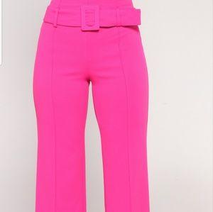 Tabitha Belted Pants by Fashion Nova